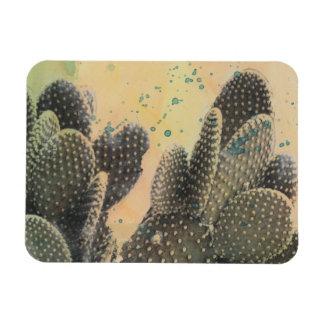 Magnet Flexible Éclaboussure verte du cactus | de désert