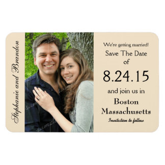 Magnet Flexible Économies de mariage d'aimant de photo de