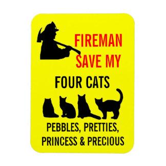 Magnet Flexible Économies de pompier mes QUATRE chats