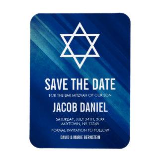 Magnet Flexible Économies grunges bleues modernes de Mitzvah de