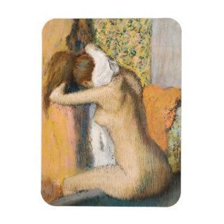 Magnet Flexible Edgar Degas | après Bath, cou de séchage de femme
