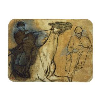 Magnet Flexible Edgar Degas | deux études des cavaliers