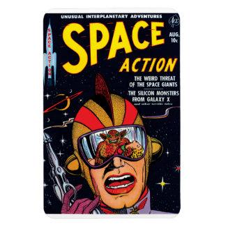 Magnet Flexible Espacez la couverture de bande dessinée vintage de