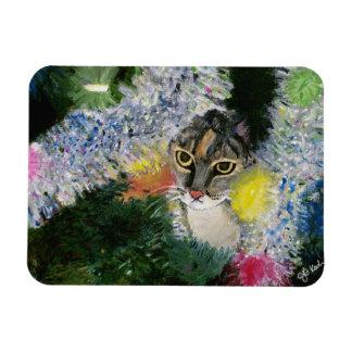 Magnet Flexible Et un chat dans un aimant d'arbre de Noël