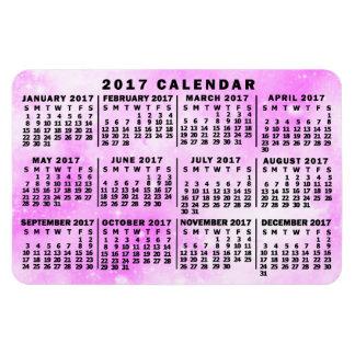 Magnet Flexible Étoiles mensuelles d'aquarelle de rose de