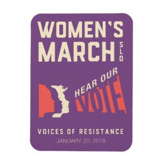 Magnet Flexible Événement de mars SLO des femmes 2018 janvier