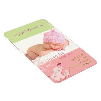 Magnet Flexible Faire-part de naissance de photo de bébé d'AMOUR