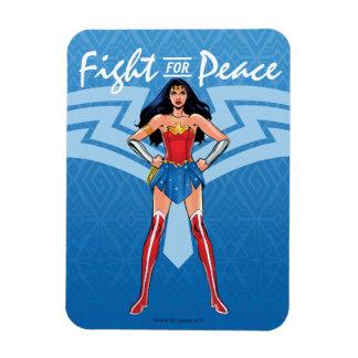 Magnet Flexible Femme de merveille - combat pour la paix