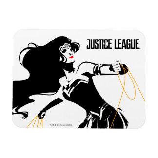 Magnet Flexible Femme de merveille de la ligue de justice | avec