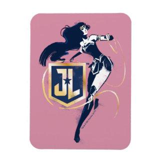 Magnet Flexible Femme de merveille de la ligue de justice   et art