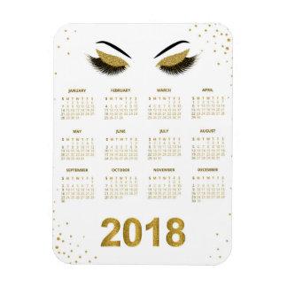 Magnet Flexible Femmes avec le calendrier scintillant du