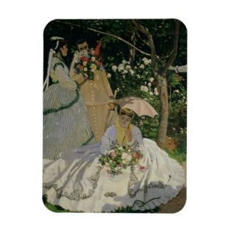 Magnet Flexible Femmes de Claude Monet | dans le jardin