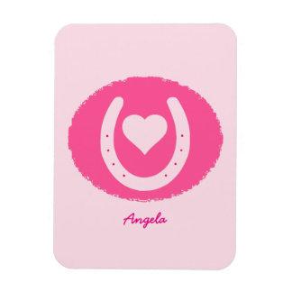 Magnet Flexible Fer à cheval et coeur roses