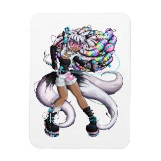 Magnet Flexible Fille de Kitsune de Cyber