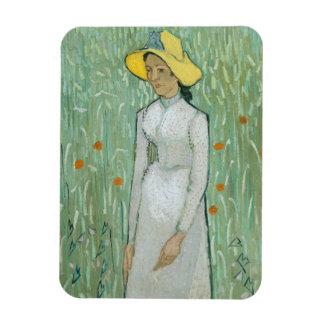 Magnet Flexible Fille de Vincent van Gogh | dans le blanc, 1890