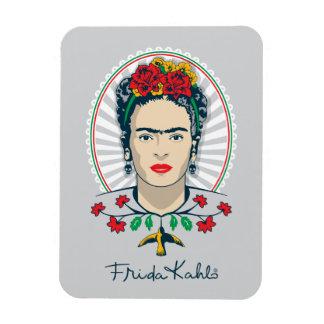 Magnet Flexible Floral vintage de Frida Kahlo |