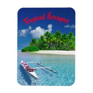Magnet Flexible Fuite tropicale d'île