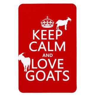 Magnet Flexible Gardez le calme et aimez les chèvres