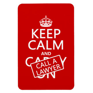 Magnet Flexible Gardez le calme et appelez un avocat (dans toute