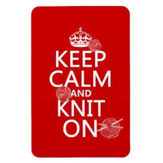 Magnet Flexible Gardez le calme et tricotez dessus - toutes les