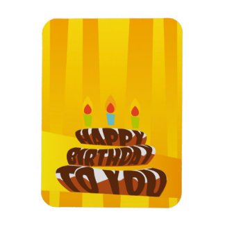 Magnet Flexible Gâteau de joyeux anniversaire d'illustration avec