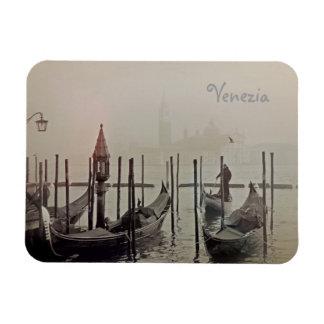 Magnet Flexible Gondoles dans le brouillard, Venise, Italie