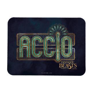 Magnet Flexible Graphique de charme d'Accio d'art déco de jade