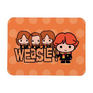 Magnet Flexible Graphique de Weasley Siblilings de bande dessinée