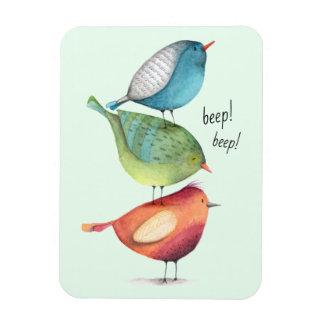 Magnet Flexible Gros oiseaux mignons se tenant sur l'un l'autre