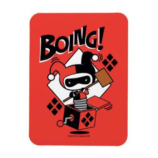 Magnet Flexible Harley-Quinn-Dans-UN-Box de Chibi avec le marteau
