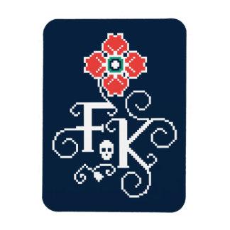 Magnet Flexible Hommage floral de Frida Kahlo |