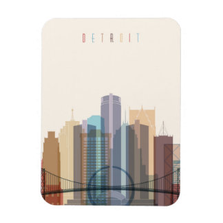 Magnet Flexible Horizon de ville de Detroit, Michigan |