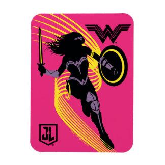 Magnet Flexible Icône de silhouette de femme de merveille de la