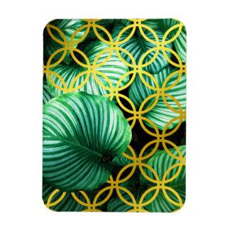 Magnet Flexible Illustration moderne tropicale géométrique de