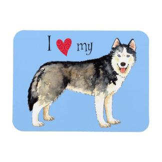 Magnet Flexible J'aime mon chien de traîneau