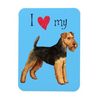 Magnet Flexible J'aime mon gallois Terrier