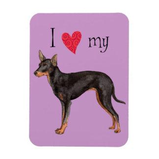 Magnet Flexible J'aime mon jouet Manchester Terrier