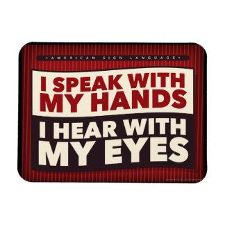 Magnet Flexible Je parle avec mes mains. un aimant d'ASL