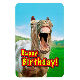 Magnet Flexible Joyeux anniversaire du cheval heureux