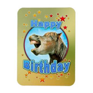 Magnet Flexible Joyeux anniversaire du cheval riant