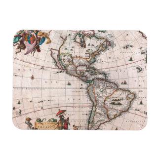 Magnet Flexible La carte de Visscher du nouveau monde
