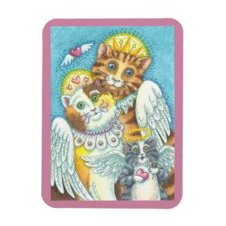 Magnet Flexible La famille de chat d'ange RONRONNE DANS l'AIMANT
