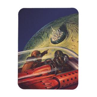 Magnet Flexible La science-fiction vintage, ville futuriste sur la