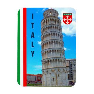 Magnet Flexible La tour penchée de Pise et du drapeau italien
