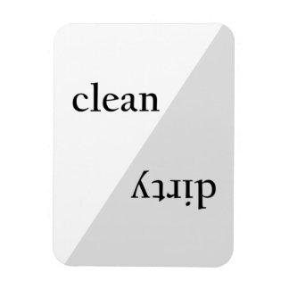 Magnet Flexible Lave-vaisselle minimaliste gris moderne de