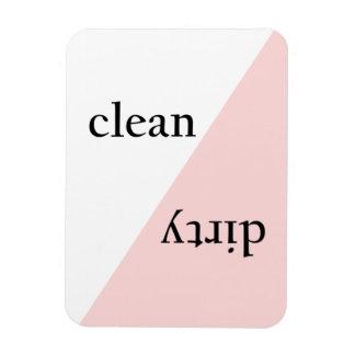 Magnet Flexible Lave-vaisselle minimaliste rose moderne de