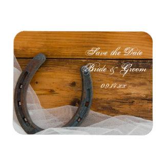 Magnet Flexible Le fer à cheval et le mariage campagnard de voile