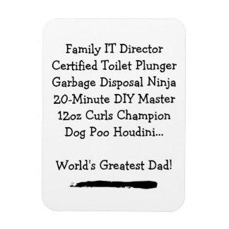 Magnet Flexible Le plus grand aimant de papa - personnalisable
