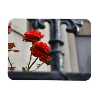 Magnet Flexible Le rouge fleurit la photographie de New York City