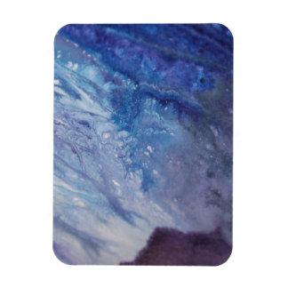 Magnet Flexible L'eau blanche bleue triste de vague de peinture